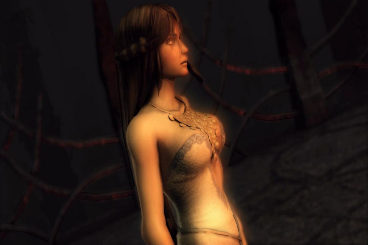 Голые скриншоты героини игр